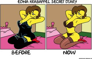 Krabappel secret life by Shayeragal
