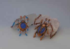 Copper Blue Beetles by BringBackTheDodo