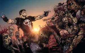 Punisher VS Walking Dead by TiagoMontoia