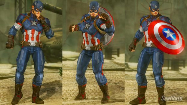 DOWNLOAD: CAPTAIN AMERICA full import [DOA5LR] by SaafRats
