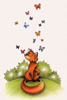 Butterfly Fox by Fli-nn
