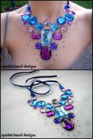 Blue and Purple Gems by Natalie526