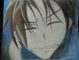 Teito's smile by Ayanami-The-Nuff