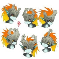 Midna Helmets by ManiacPaint