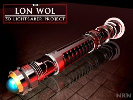 Lon Wol Lightsaber - 3D by valaryc