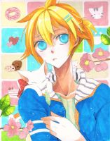 Len and cat by Sei00
