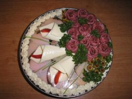 Cake - roses and callas by Alpanu
