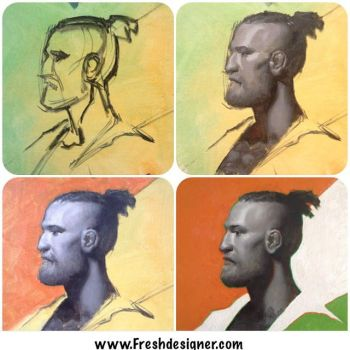 Painting Process Conor McGregor by Freshdesigner