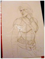 Witcher - sketch Ciri by Hollow-Moon-Art
