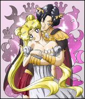 Princess Serenity and Endymion by SMeadows