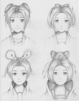 Chinese traditional hairstyles for female 1 by ShenGoDo