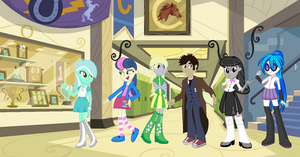 Equestria Girls: The Main Background 6 Poster by tails987