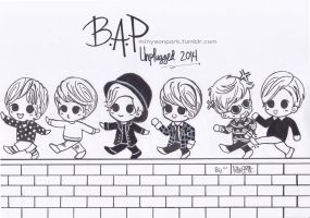 B.A.P Unplugged 2014 by nikochan91
