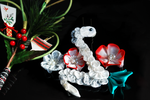 Year of the Snake Tsumami Kanzashi by hanatsukuri