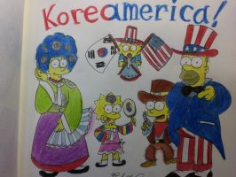 The simpsons:Koreamerica! by komi114