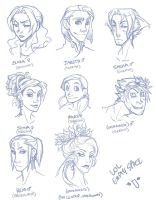 original character sketches by sarahpicklesdill