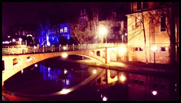 Strasbourg at night by Moussedecappu