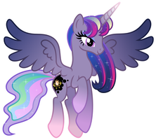 Fusion of Equestrian Princesses by Osipush