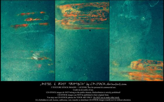 Metal And Rust Triptych by CD-STOCK by CD-STOCK