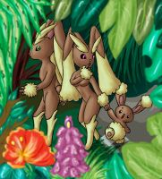 Lopunny Family by DarK-NiNiX