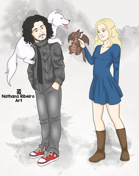 Contemporaneous Jon and Daenerys by NathanaRibeiro