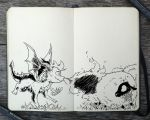 #302 Chasing Sheep by 365-DaysOfDoodles