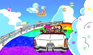 Rainbow Highway by JK-Kino