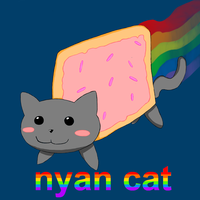 nyan cat aka pop tart cat by Dav69