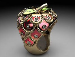 Faberge-Style Apple - View 01 by jsbarron