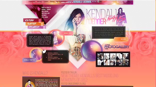 Kendall Jenner Layout by R21Art