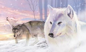 Wolves Of The Frozen Planes by RodGallery