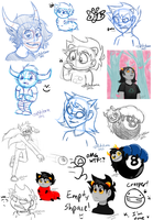 Homestuck Sketch Dump 1 by JustAutumn