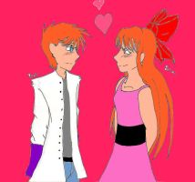 Just Blossom and Dexter by BlossomWolf