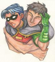 Kon and Tim --Young Justice-- by Shatty