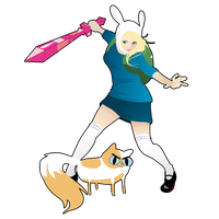 Fionna and Cake by smexy-ninja