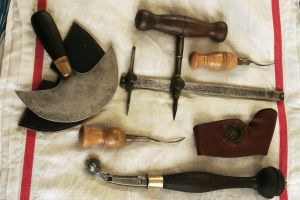 My collection of old leather tools grows. by djorll