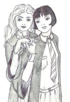 Pansy and Hermione by Manarangi