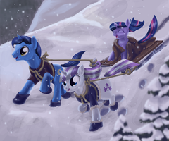 On a Two-Horse Open Toboggan by Sessalisk