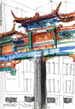 #395 - Chinatown arch by Art-Chap-Enjoin