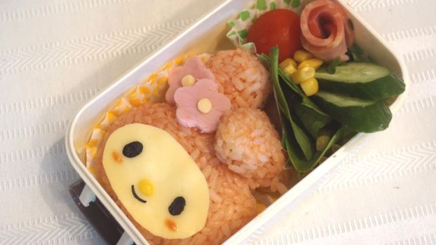 My Melody Bento (tutorial in Description) by minicuteclub