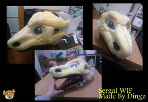 Sergal Head WIP by Dingz