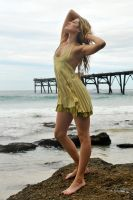 Zoe - lemon dress by the sea 1 by wildplaces