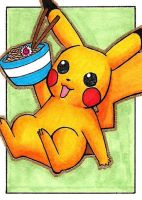 ACEO - Shiny Pikachu by to-the-core
