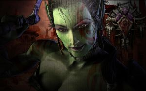 Female Orc Desktop Wallpaper by zeaig