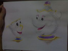 mrs.potts and chip by pantaeba