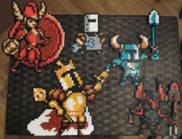 Shovel Knight Perlers by VV-Weegee