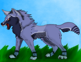 Wolf I Did For A Draw To Adoped  by fluffy40