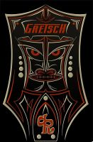 Gretsch Tiki Pinstriping by actionrokka