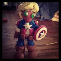 Clay Captain America ^u^ by Pathlon