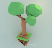 floating tree by foxwizard916